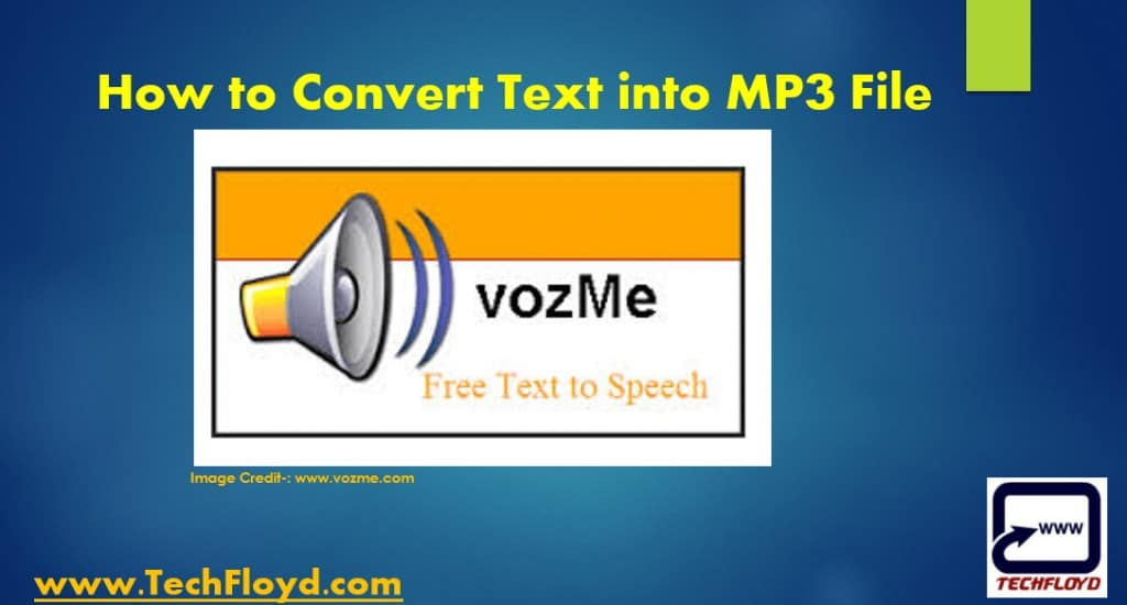 How to Convert Text into MP3 File