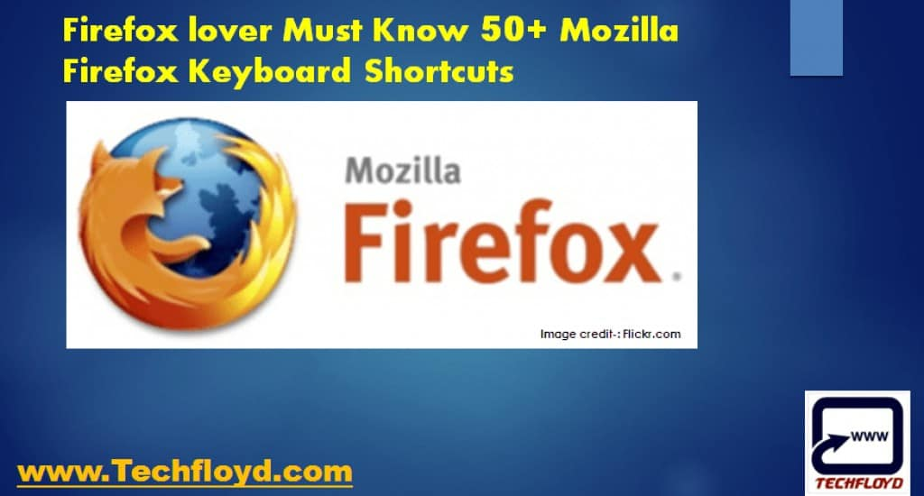 Firefox lover Must Know 50+ Mozilla Firefox Keyboard Shortcuts
