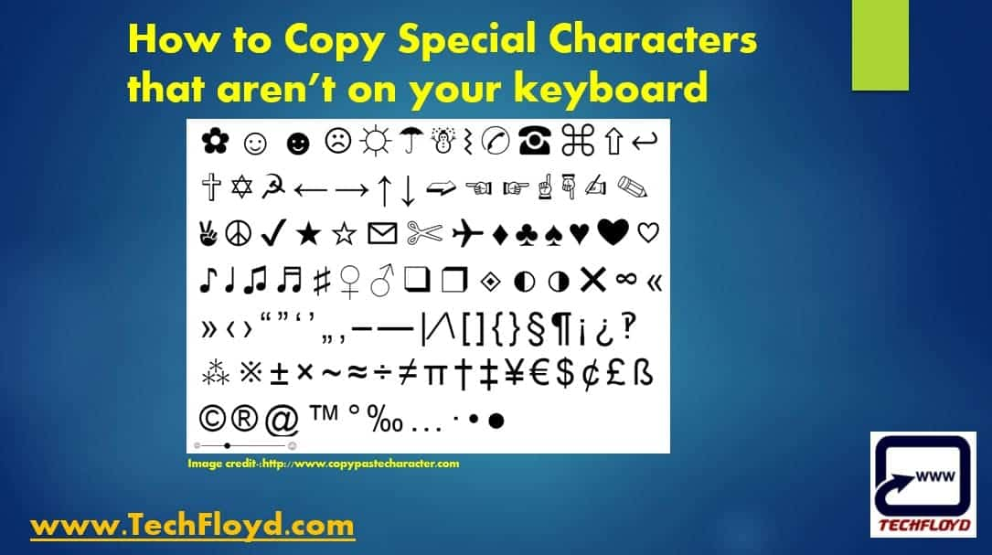 How To Copy Special Characters That Arent On Your Keyboard