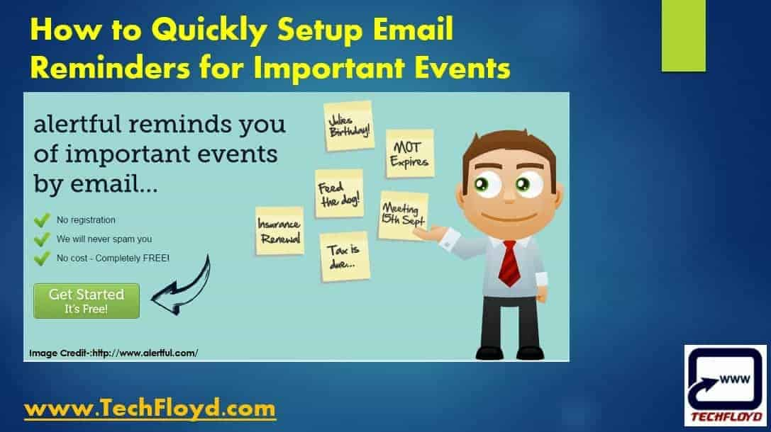 How to Quickly Setup Email Reminders for Important Events