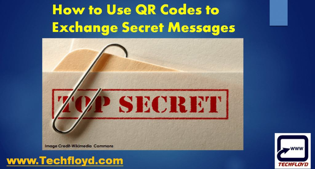 How to Use QR Codes to Exchange Secret Messages