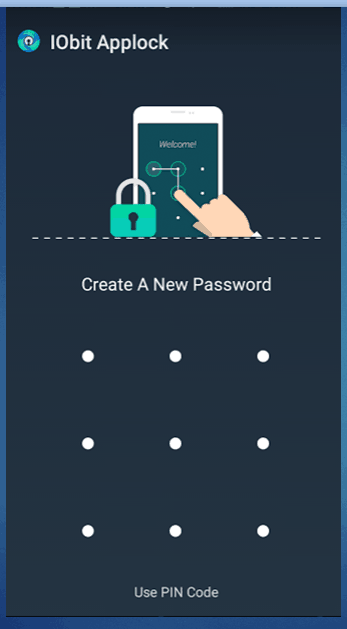 create a password and for security purpose