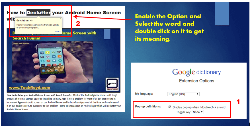 Awesome Dictionary Extension for Google Chrome Web Browser
